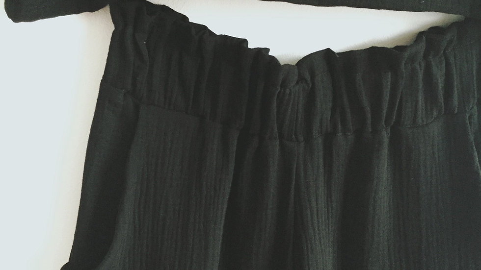 Noir cotton trouser