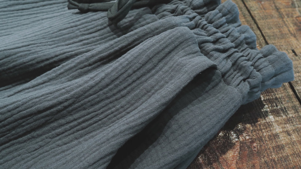 Anthracite cotton trouser