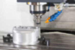 CNC machining center cutting mold by end