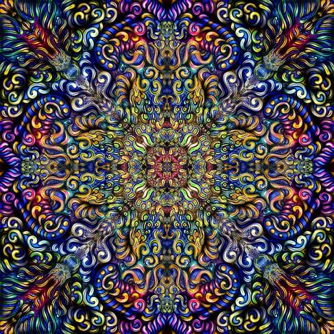 Cosmic Cross Mandala