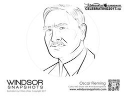 Windsor Snapshots - Oscar Fleming - Colouring Page
