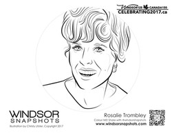 Windsor Snapshots - Rosalie Trombley - Colouring Page