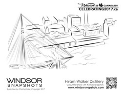 Windsor Snapshots - Hiram Walker Distillery - Colouring Page