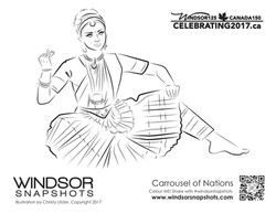 Windsor Snapshots - Carrousel of Nations - Colouring Page