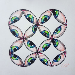 Eye See a Flower of Life