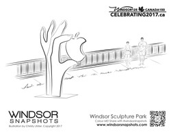 Windsor Snapshots - Windsor Sculpture Park - Colouring Page