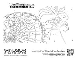 Windsor Snapshots - Freedom Festival- Colouring Page