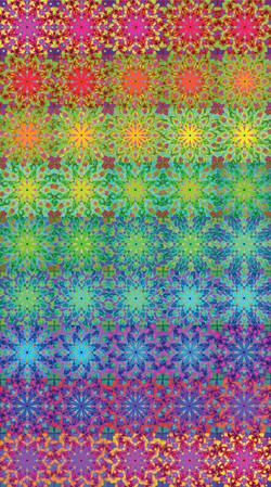 Rainbow Wave Mandala