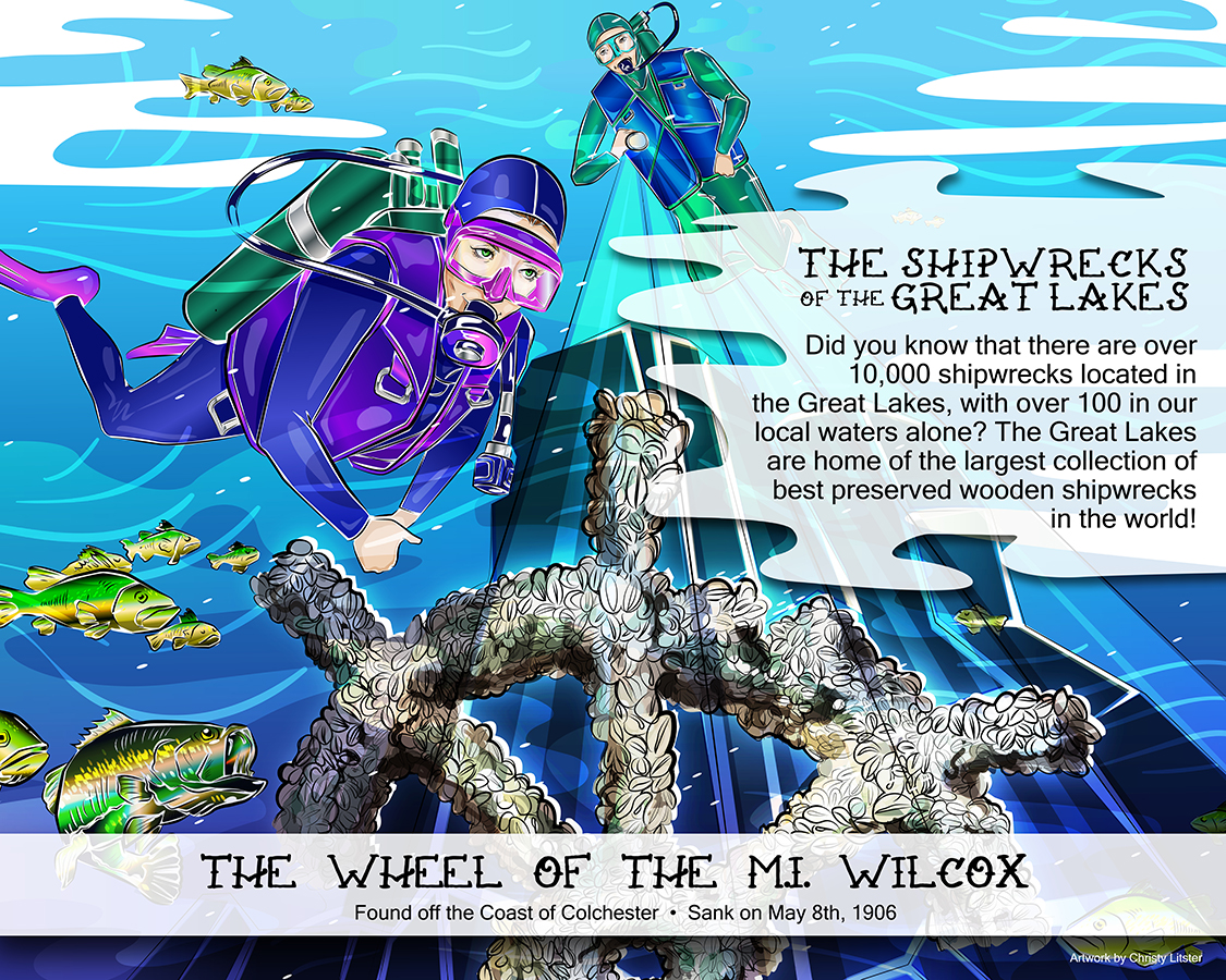 Shipwrecks of the Great Lake Mural