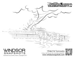 Windsor Snapshots - 1946 Tornado - Colouring Page