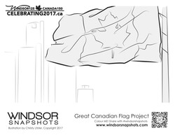 Windsor Snapshots - Great Canadian Flag Project - Colouring Page