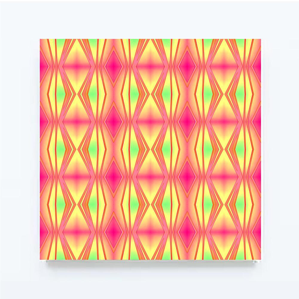 ROUGHRETRO - Pink mix, 100 X 100 cm
