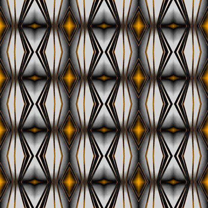 ROUGHRETRO- Golden cold, 100 X 100 cm,