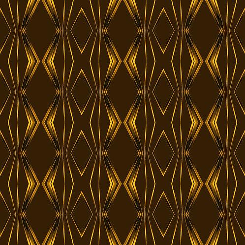 "PHOTOART ""ROUGH RETRO - Gold on brown"""