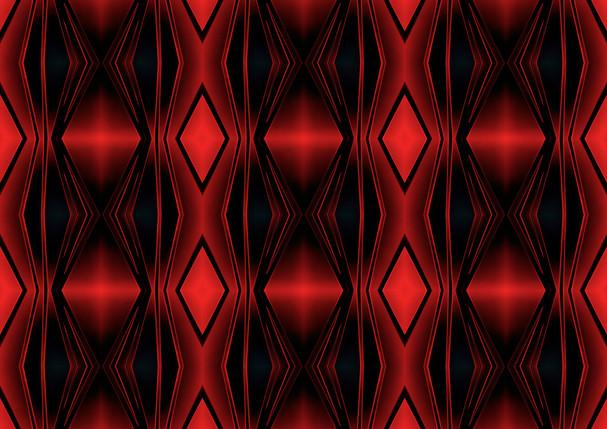 ROUGHRETRO - Red lounge,100X100cm,