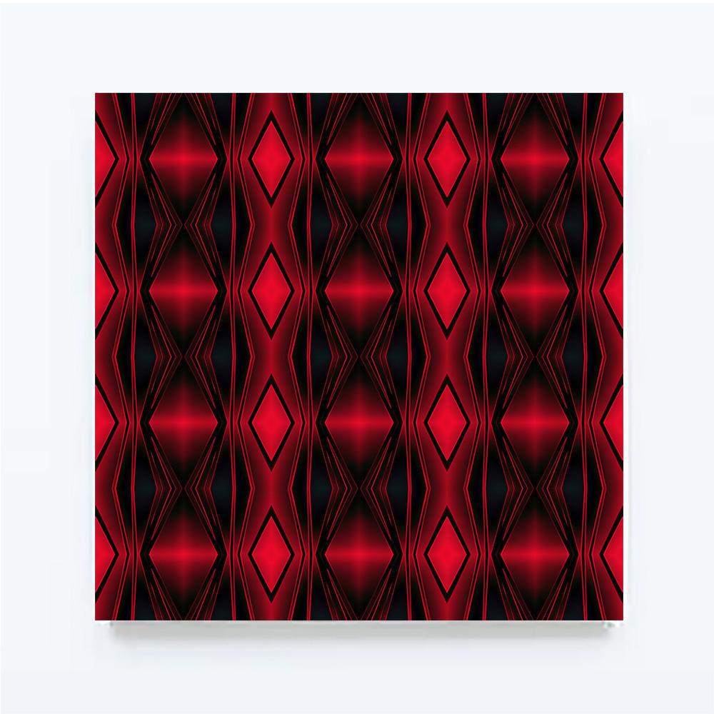 ROUGHRETRO - Red lounge, 100 X 100 cm