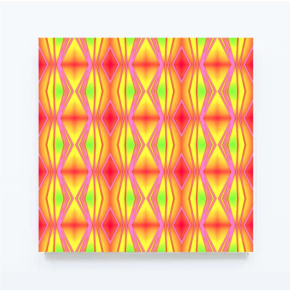 ROUGHRETRO - Neon mix, 100 X 100 cm