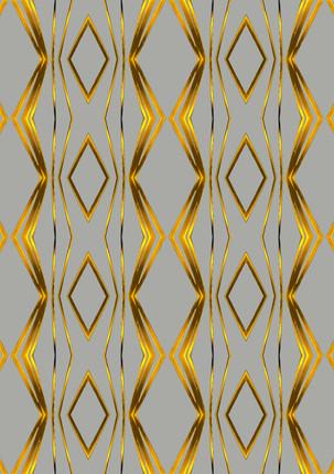ROUGHRETRO- Gold on ligh grey, 100 X 1