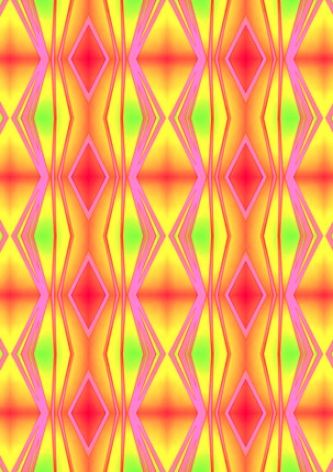 ROUGHRETRO- Neon mix,100 X 100cm,ti