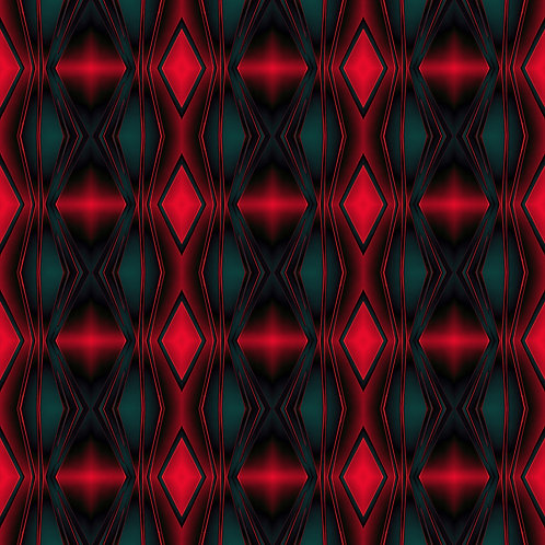 """PHOTOART """"ROUGH RETRO - Red and green lounge"""""""