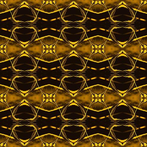 """PHOTOART """"GOLDEN LEAVES - Gold on golden"""""""