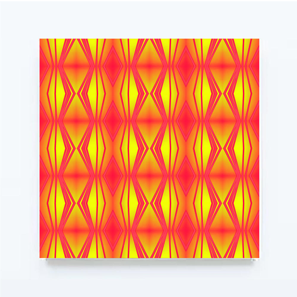 ROUGHRETRO - Neon, 100 X 100 cm