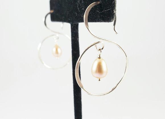 Graceful and Funky Pearl Earrings