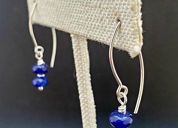 Sapphire Night Earrings