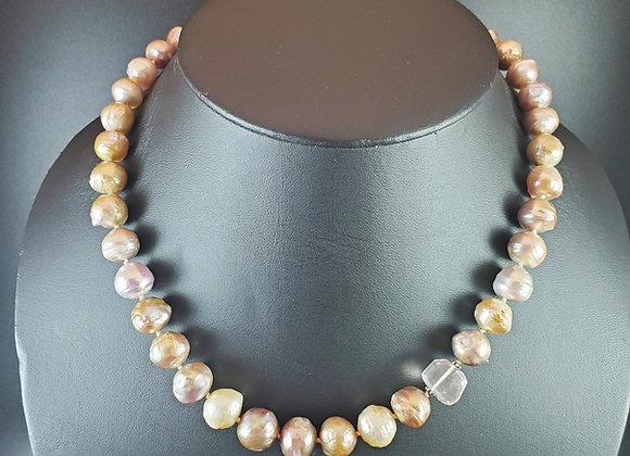 Champagne Pearls and Rose Quartz