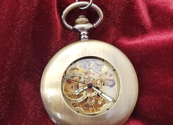 Bronze Mechanical Pocket Watch