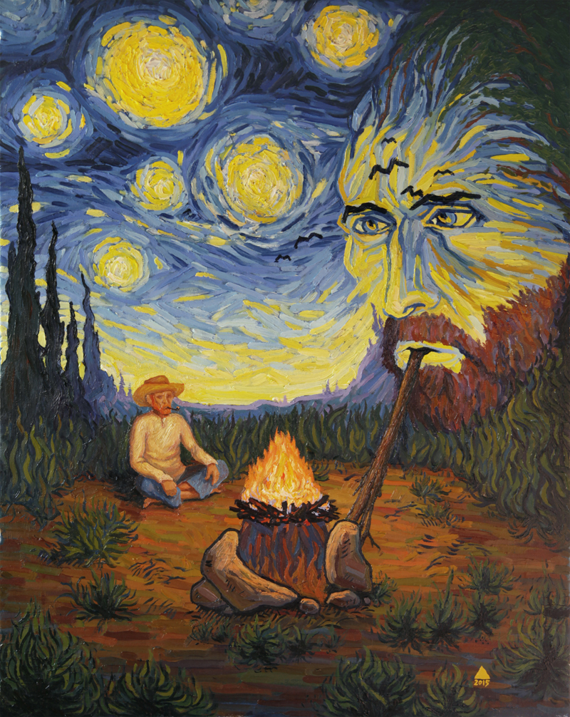 Van Gogh Smokes The Night
