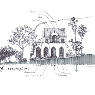 Normandy Seaside Cottage - early schematic