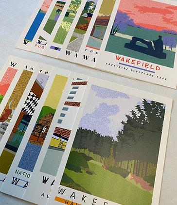 Wakefield Travel Postcards