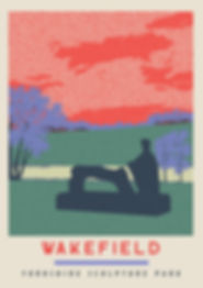 Ellie Way | Yorkshire Sculpture Park | Wakefield Travel Posters