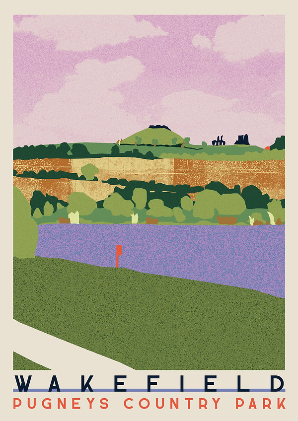 Ellie Way | Pugney's County Park | Wakefield Travel Posters