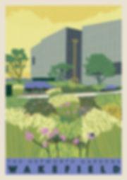 Ellie Way | The Hepworth Gardens | Wakefield Travel Posters