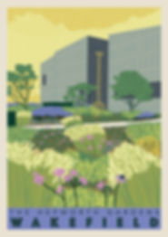 Ellie Way | The Hepworth Gardens | Wakefield Travel Posters