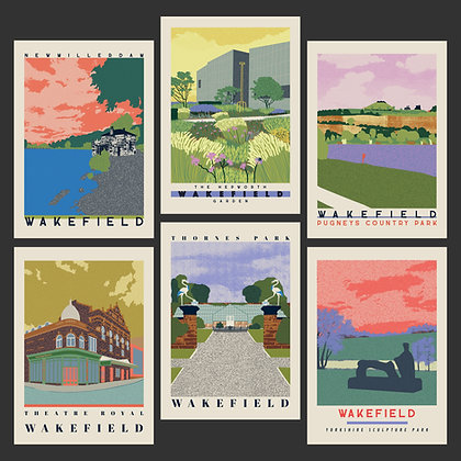 Full Collection of A3 Wakefield Travel Posters