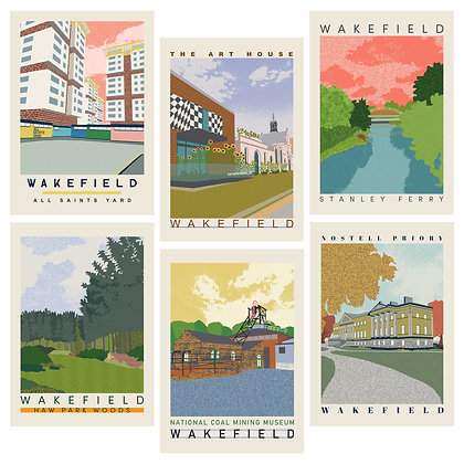 Second Release Wakefield Travel Posters