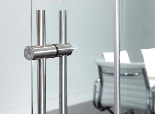 Muraflex Introduces Anti-Microbial  Hardware + Protective Surface Finishing for Glass Walls