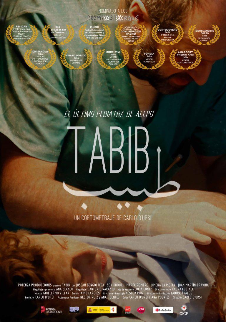 Cartel del corto Tabib (2017),dirigido por Carlo D'Ursi./ Fuente: Página oficial Tabib