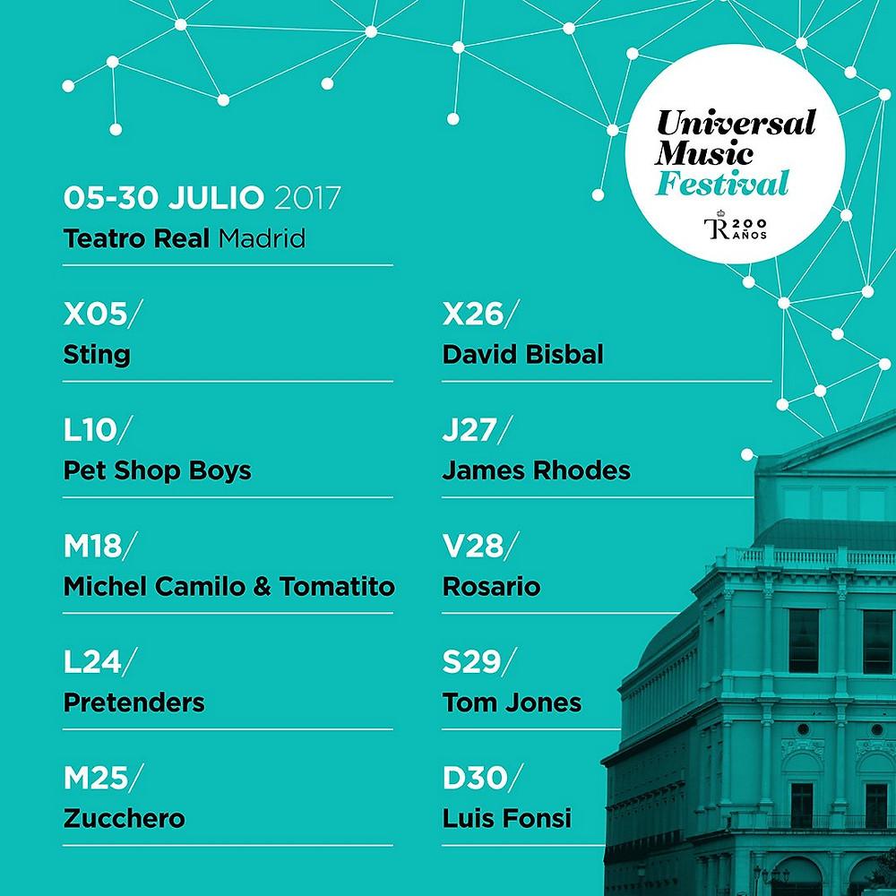 Cartel del Universal Music Festival Madrid 2017. / Fuente: Twitter oficial de UMFM