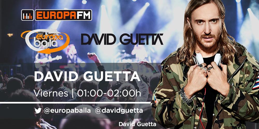 Cartel de promoción de David Guetta en Europa Baila / Fuente: Europafm