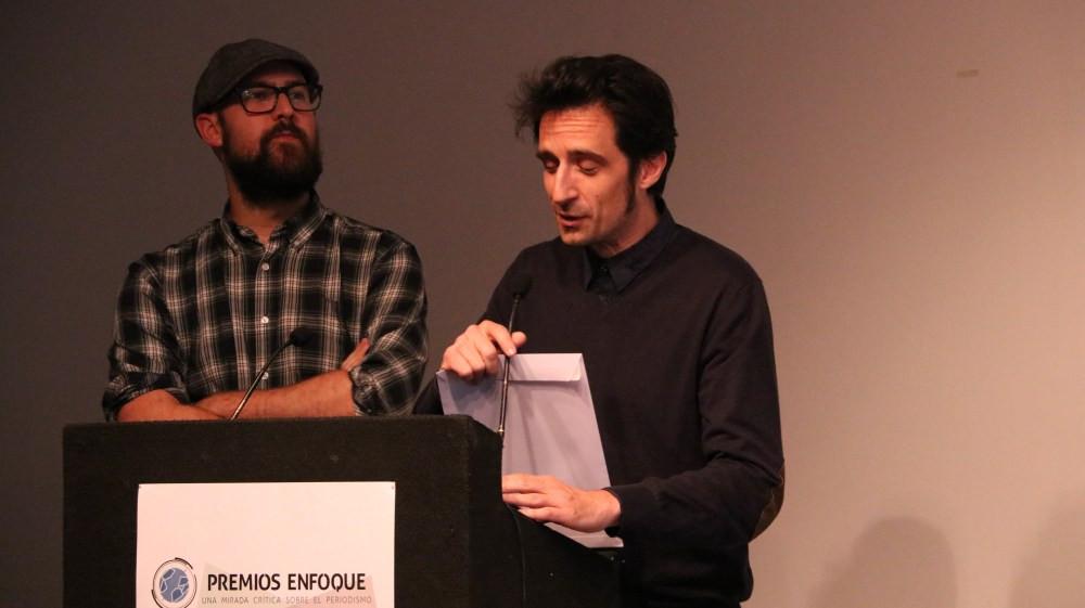 Manu Tomillo y Javier Gallego, de Carne Cruda. / Fuente: Premios Enfoque