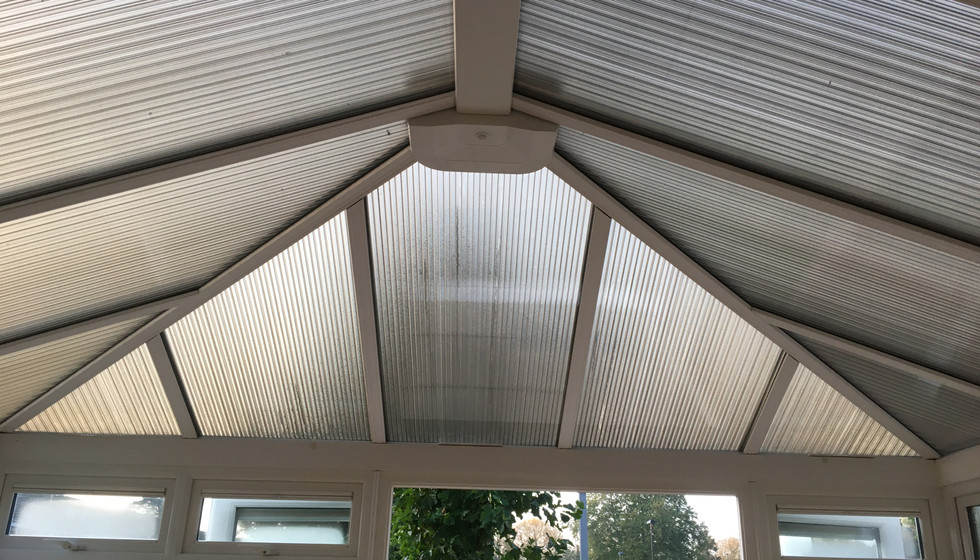 Before - Poly carbonate roof