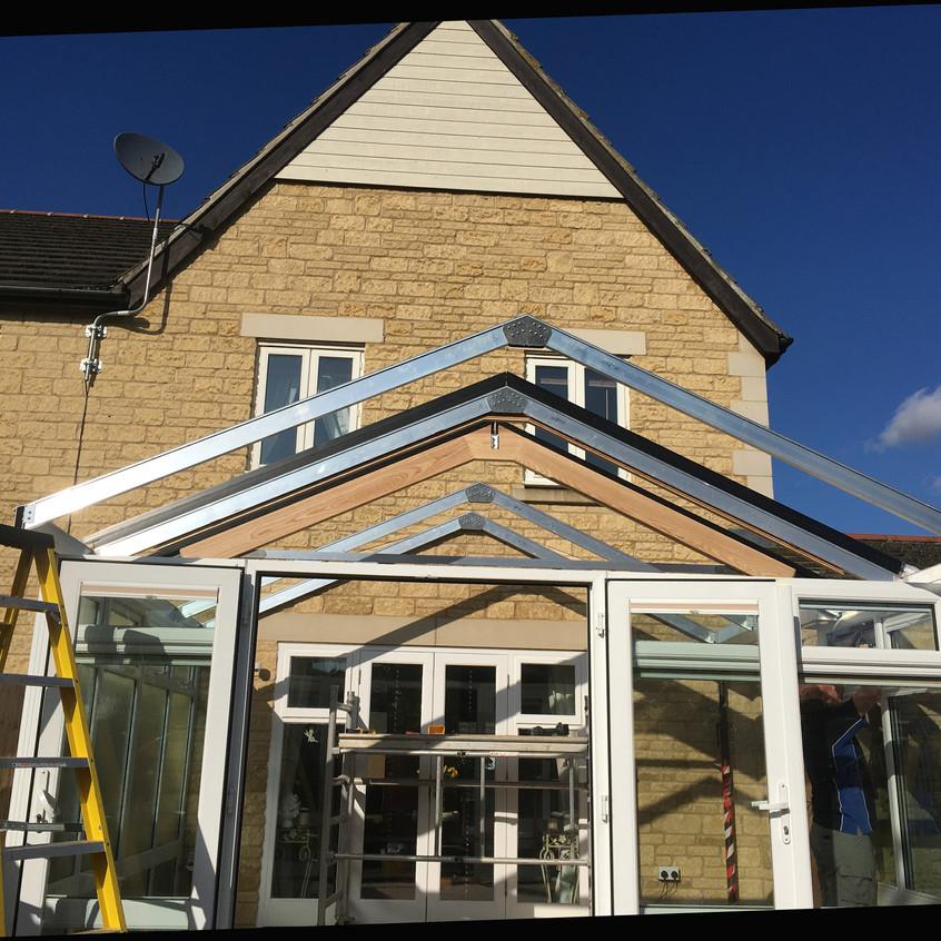 New roof frame