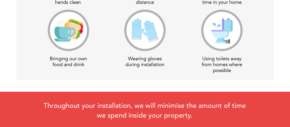 Working in your home during installation