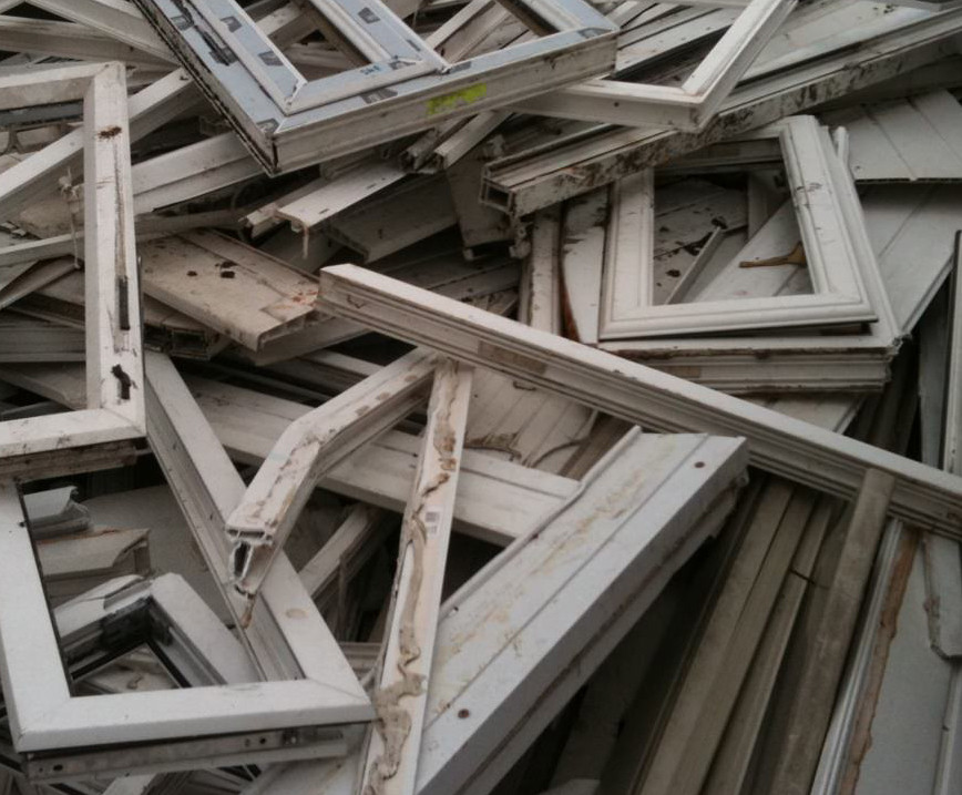 uPVC frames for recycling