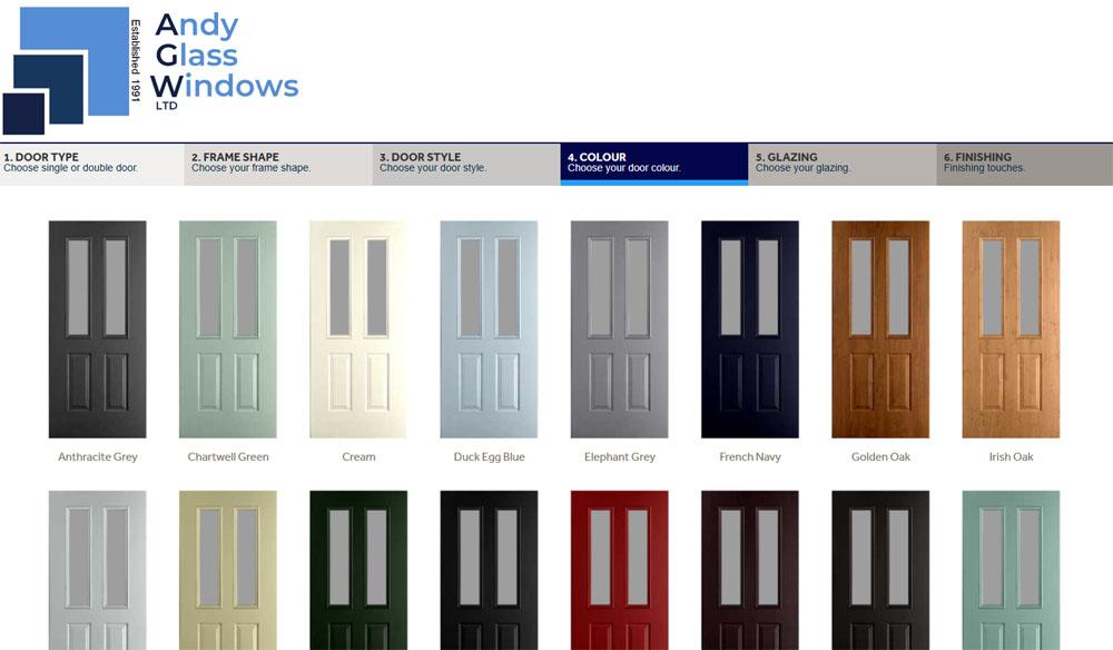 Choose a door colour