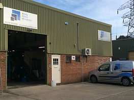 Andy Glass Windows Warehouse and showroom entrance